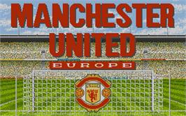 Title screen of Manchester United Europe on the Atari ST.
