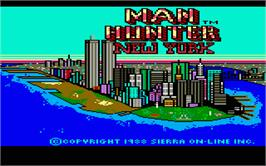 Title screen of Manhunter: New York on the Atari ST.