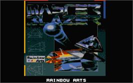 Title screen of Master Blazer on the Atari ST.