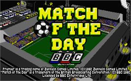 Title screen of Match of the Day on the Atari ST.
