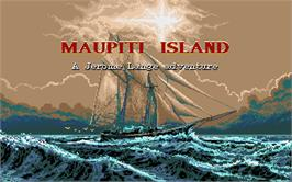 Title screen of Maupiti Island on the Atari ST.
