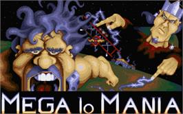 Title screen of Mega Lo Mania & First Samurai on the Atari ST.