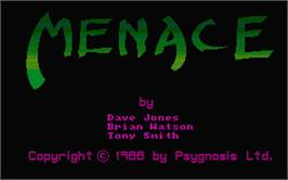 Title screen of Menace on the Atari ST.