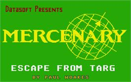 Title screen of Mercenary: Escape From Targ with the Second City on the Atari ST.