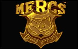 Title screen of Mercs on the Atari ST.
