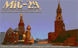 Title screen of MiG-29 Fulcrum on the Atari ST.