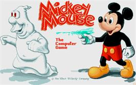 Title screen of Mickey Mouse: The Computer Game on the Atari ST.