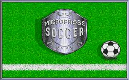 Title screen of Microprose Pro Soccer on the Atari ST.