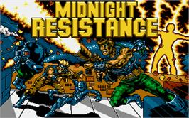 Title screen of Midnight Resistance on the Atari ST.
