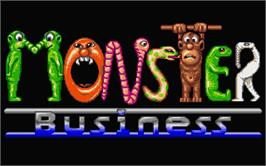 Title screen of Monster Business on the Atari ST.