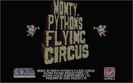 Title screen of Monty Python's Flying Circus on the Atari ST.