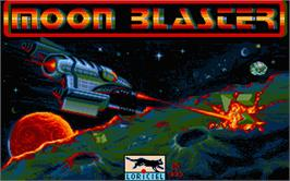 Title screen of Moon Blaster on the Atari ST.