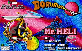 Title screen of Mr. Heli on the Atari ST.