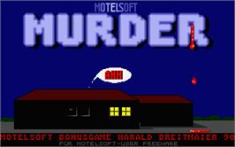 Title screen of Murder on the Atari ST.