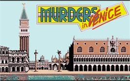 Title screen of Murders in Venice on the Atari ST.