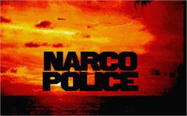 Title screen of Narco Police on the Atari ST.