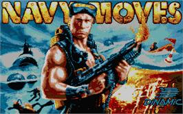 Title screen of Navy Moves on the Atari ST.