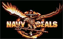 Title screen of Navy Seals on the Atari ST.