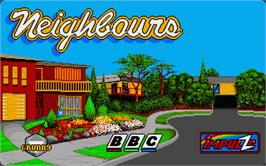 Title screen of Neighbours on the Atari ST.