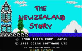 Title screen of New Zealand Story on the Atari ST.