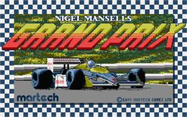 Title screen of Nigel Mansell's Grand Prix on the Atari ST.