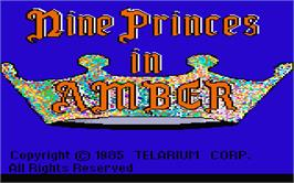 Title screen of Nine Princes in Amber on the Atari ST.