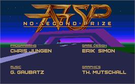 Title screen of No Second Prize on the Atari ST.