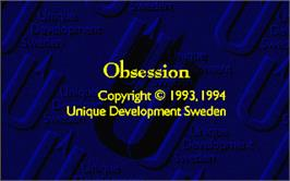 Title screen of Obsession on the Atari ST.