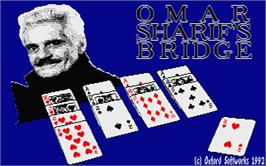 Title screen of Omar Sharif on Bridge on the Atari ST.