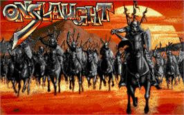 Title screen of Onslaught on the Atari ST.