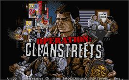 Title screen of Operation: Cleanstreets on the Atari ST.