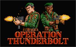 Title screen of Operation Thunderbolt on the Atari ST.