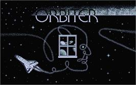 Title screen of Orbiter on the Atari ST.