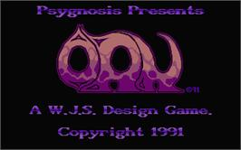 Title screen of Ork on the Atari ST.