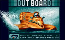 Title screen of Out Board on the Atari ST.