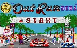 Title screen of Out Run on the Atari ST.