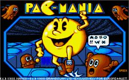 Title screen of Pac-Mania on the Atari ST.