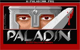 Title screen of Paladin on the Atari ST.