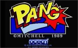 Title screen of Pang on the Atari ST.