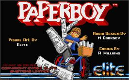 Title screen of Paperboy on the Atari ST.