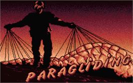 Title screen of Paragliding on the Atari ST.