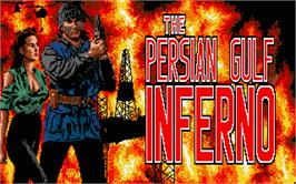 Title screen of Persian Gulf Inferno on the Atari ST.