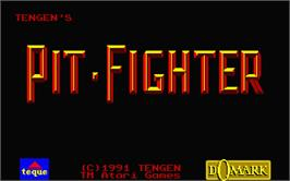 Title screen of Pit Fighter on the Atari ST.