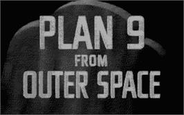 Title screen of Plan 9 From Outer Space on the Atari ST.