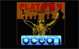 Title screen of Platoon on the Atari ST.