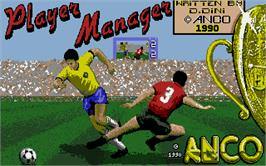 Title screen of Player Manager on the Atari ST.