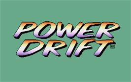 Title screen of Power Drift on the Atari ST.
