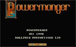 Title screen of Powermonger on the Atari ST.