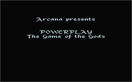 Title screen of Powerplay: The Game of the Gods on the Atari ST.
