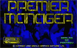 Title screen of Premier Manager on the Atari ST.